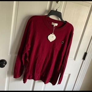 NWT Simply Couture pull over long sleeve Sweater